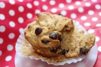 Peanut Butter Chocolate Chip Chunky Monkey Muffin {vegan adaptable}