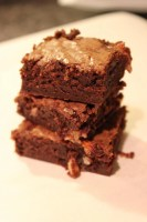 Double Fudge Coconut Almond Brownies