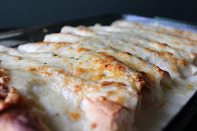 Chicken Enchiladas With Sour Cream White Sauce Everyday Made Fresh