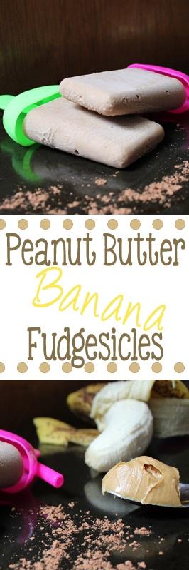 peanut butter banana fudgesicles