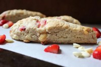Strawberry White Chocolate Scones