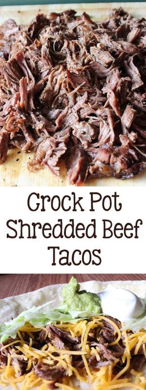Crockpot Shredded Beef Tacos   Everydaymadefresh.com