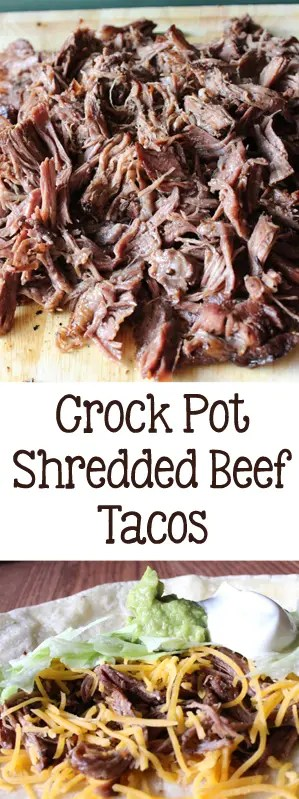 Crockpot Shredded Beef Tacos | Everydaymadefresh.com