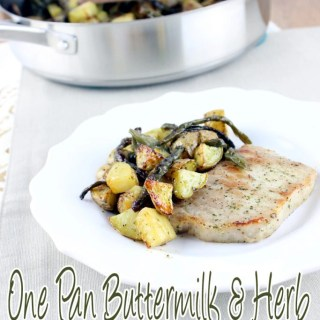 One Pan Buttermilk and Herb Pork Chop and Vegetables