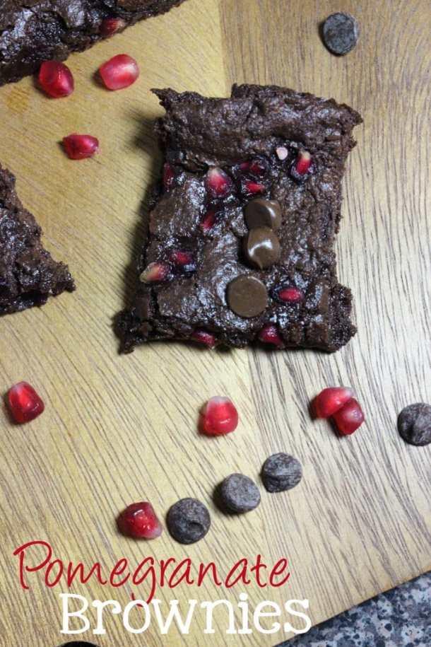 Pomegranate Brownies #HolidaywithGlade #ad | EverydayMadeFresh.com