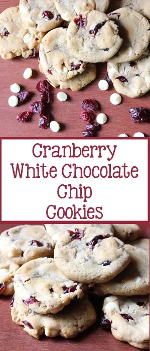 Cranberry White Chocolate Chip Cookies | EverydayMadeFresh.com