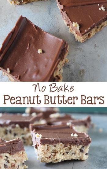 No Bake Peanut Butter Bars | EverydayMadeFresh.com