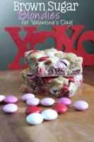 Brown Sugar Blondies for Valentine's Day!