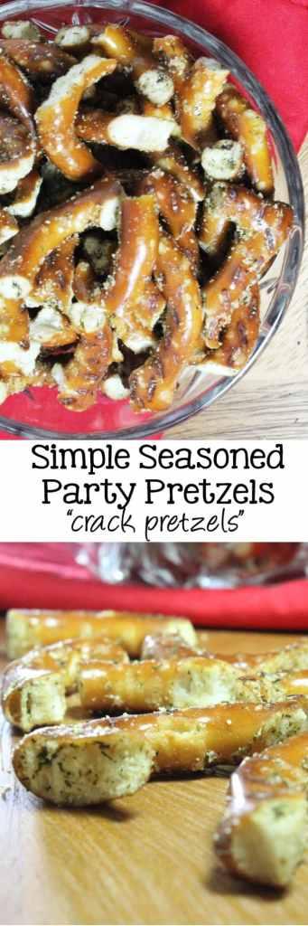 Simple Seasoned Party Pretzels