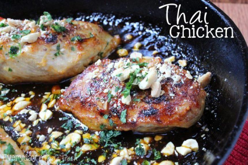 Thai Chicken | EverydayMadeFresh.com