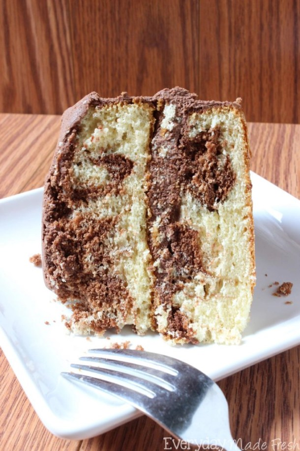 The Best Marble Cake With Chocolate Buttercream Everyday