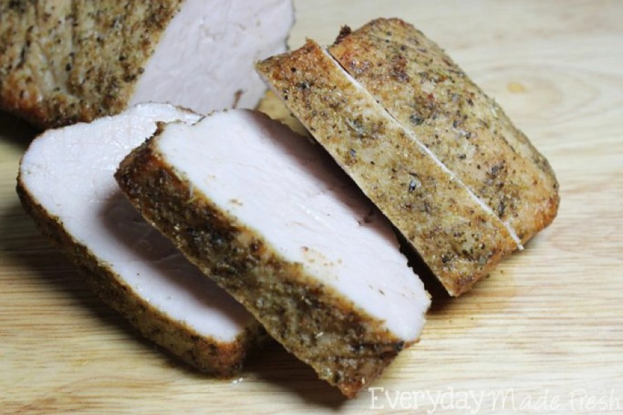 This Herb Roasted Pork Tenderloin is flavorful, juicy, and easy enough to prepare, so that you can really enjoy this anytime! | EverydayMadeFresh.com