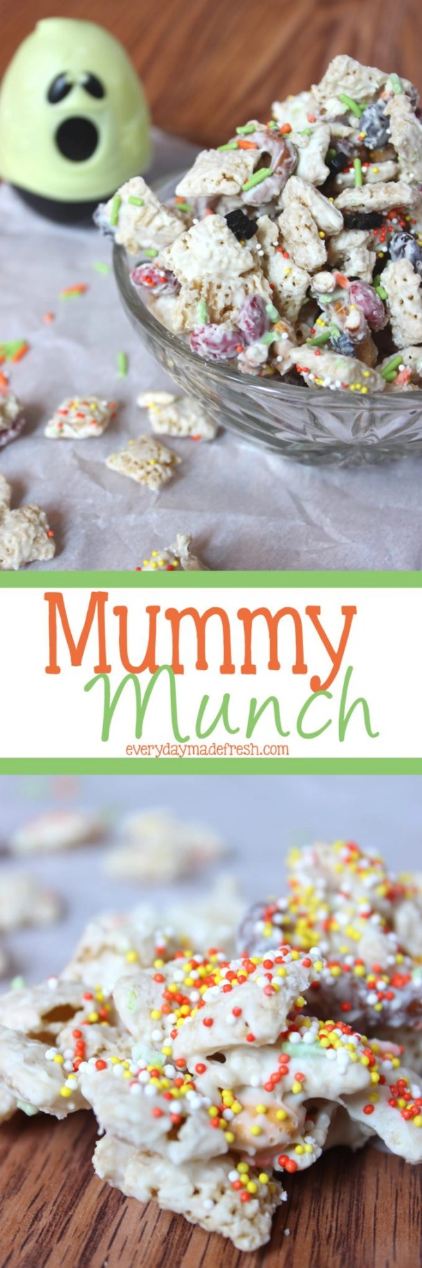 Simple to make, and ready in less than 10 minutes, this fun Mummy Munch is sure to be a hit with everybody! | EverydayMadeFresh.com