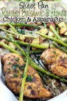 Sheet Pan Roasted Balsamic & Honey Chicken & Asparagus