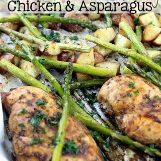 Sheet Pan Roasted Balsamic & Honey Chicken & Asparagus