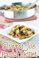 Sloppy Joe Pasta Skillet
