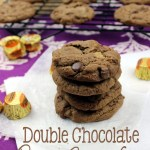 A chocolate chip cookie and a peanut butter cookie got married, and together they had these Double Chocolate Chip Peanut Butter Cup Cookies! It's a perfect match! | EverydayMadeFresh.com