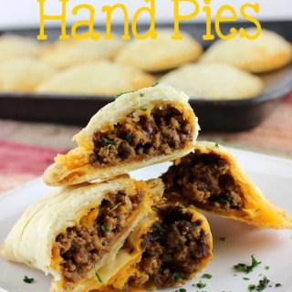 hese savory hand pies are the perfect portable snack, lunch, or dinner. Store bought pie dough make these Taco Hand Pies easy! | EverydayMadeFresh.com