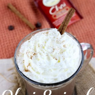 Chai Spiced Hot Chocolate is the perfect warming drink for all those cold winter days ahead! | EverydayMadeFresh.com