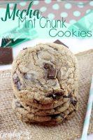 Mocha Mint Chocolate Chunk Cookies