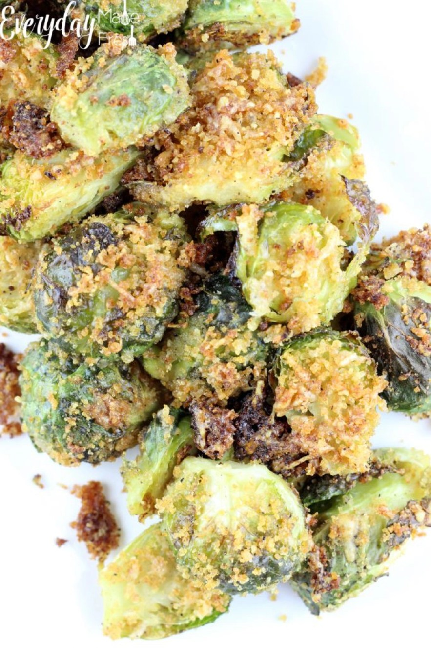 Parmesan Roasted Brussels Sprouts are perfect for the holiday table, yet easy enough for a weeknight side dish. | EverydayMadeFresh.com
