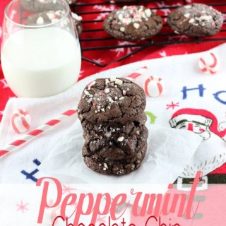 Peppermint Chocolate Chip Chocolate Cookies