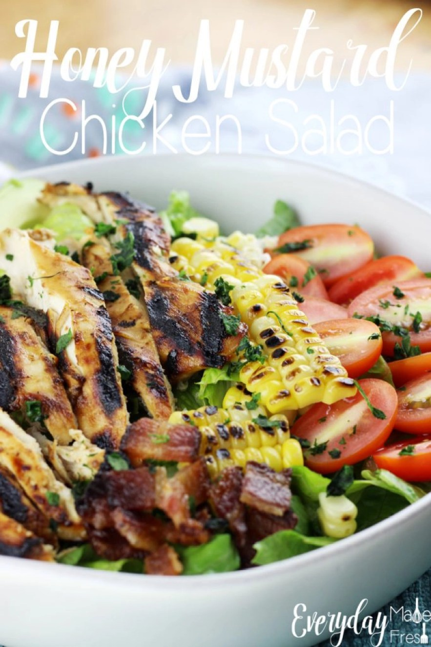 This is for those that aren't fond of salads, like me. This Honey Mustard Chicken Salad is hands down scrumptious! The dressing is simple to make and healthy!   EverydayMadeFresh.com