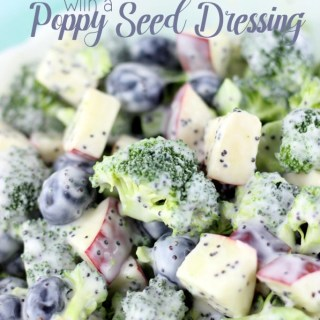 Skinny Broccoli Salad with a Poppy Seed Dressing