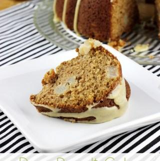 Pear Bundt Cake with Vanilla Bean Caramel