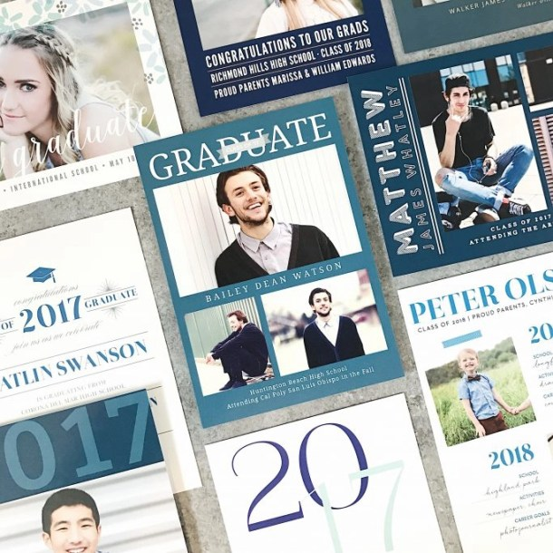 Creating the Perfect Graduation Announcement is as simple as 1-2-3! | EverydayMadeFresh.com