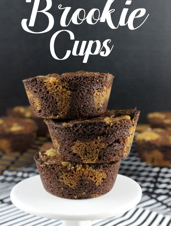 Craving a brownie and a chocolate chip cookie, but can't decide which one you want? No worries! These Brookie Cups are the best of both worlds!   EverydayMadeFresh.com