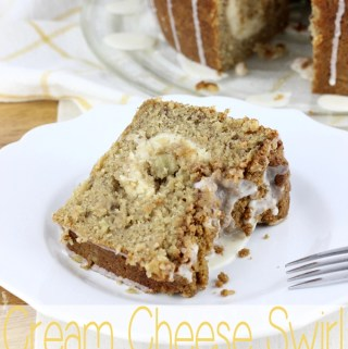 Cream Cheese Swirl Banana Coffee Cake