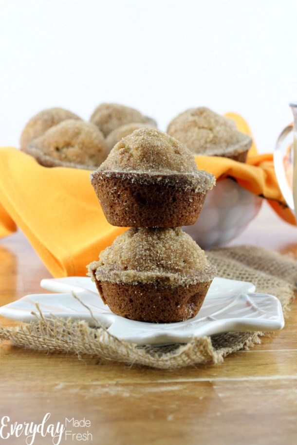 Cinnamon Spiced Banana Muffins are perfect for a grab and go breakfast.  | EverydayMadeFresh.com
