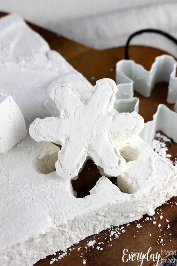 Making marshmallows at home isn't hard, and you can control what the ingredients are. These Very Simple Homemade Marshmallows are easy to make, and you can cut them into any shape you'd like!   EverydayMadeFresh.com