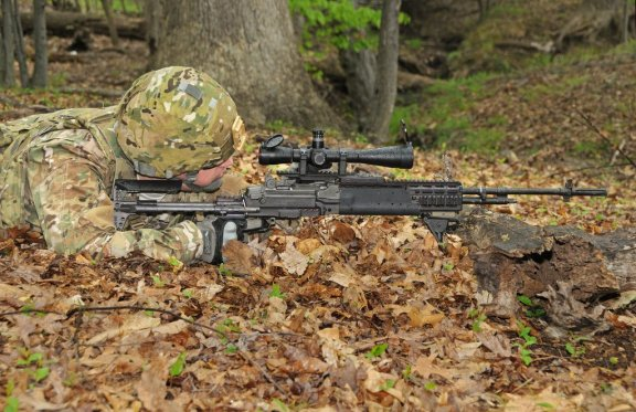 Army designated marksman with M14