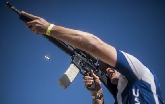 USAF shooting team member using the C-Clamp grip