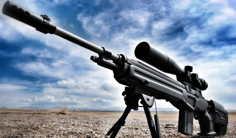 The Marksma's Springfield M1A loaded with first generation JAE-100 stock