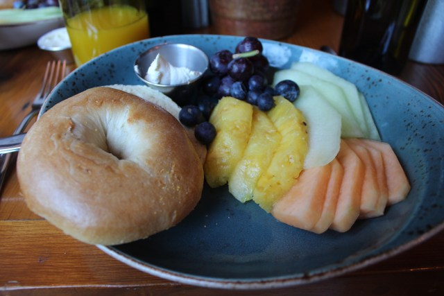 A colorful continental breakfast served by Stephanie, our delightful waitress.