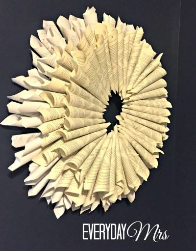 book page wreath 2