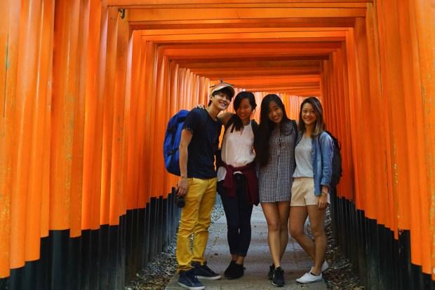 At the Fushirama Inari Shrine during the second run of The Travel Intern