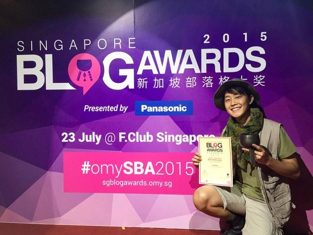 At the 2015 Singapore Blog Awards