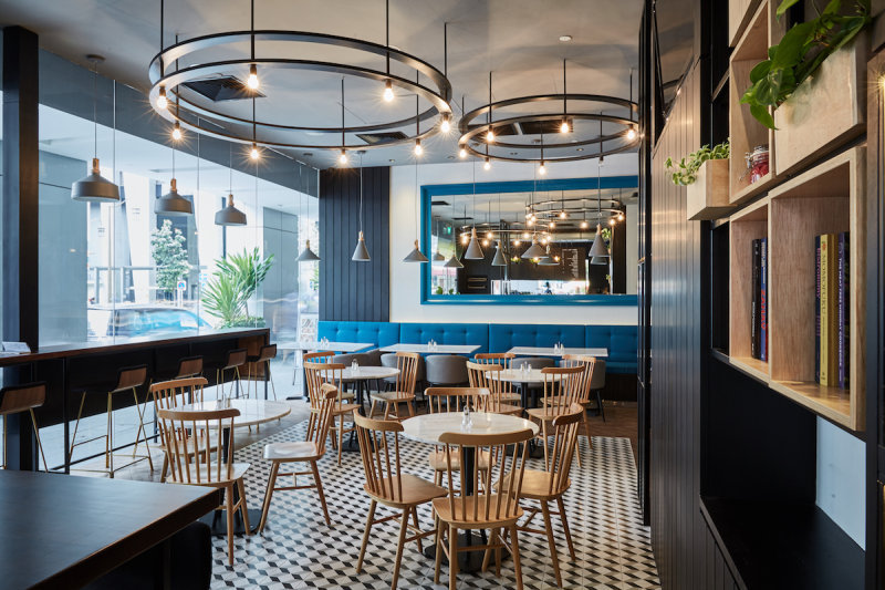 Ash Char Has Given The 70s Art Deco Style A Sleek And Modern Update Its Open Concept Bar Boasts Black Brown Gold Palate While Main Dining