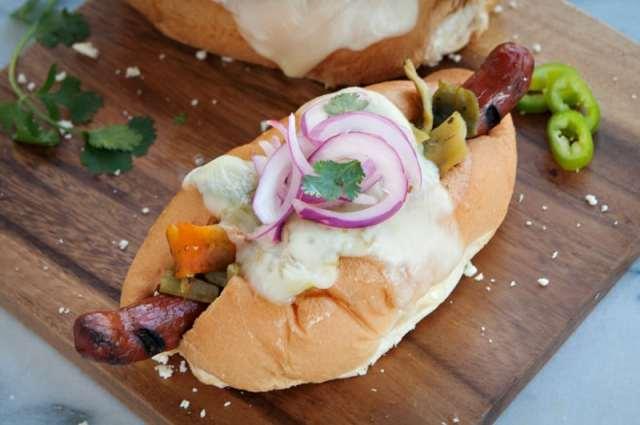 image southwest green chile cheese dog recipe
