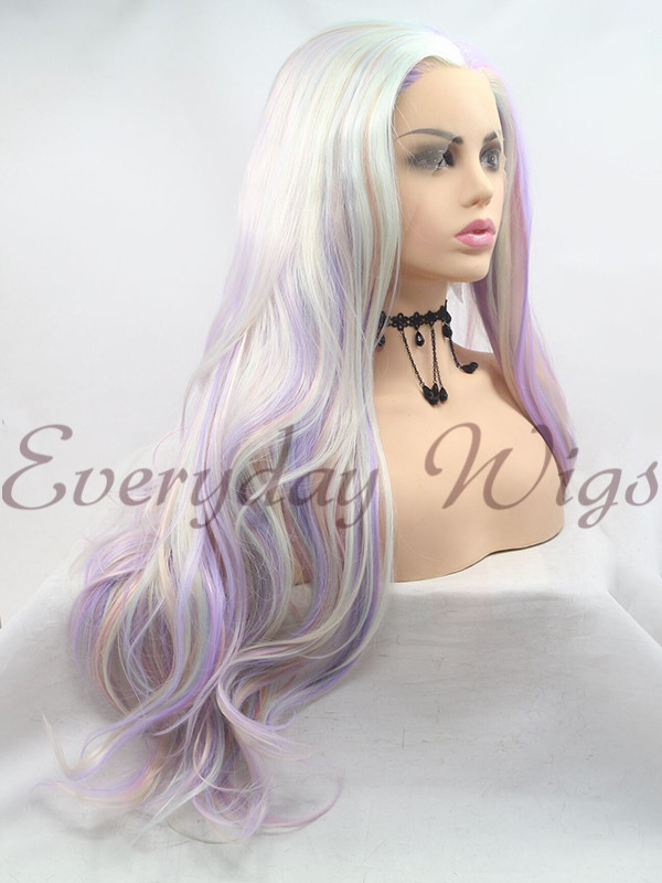 14 Purple Short Bob Synthetic Lace Front Wig Edw1153