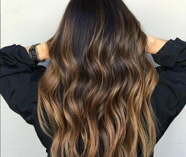 Ombre Highlights Human Hair Wig Edw