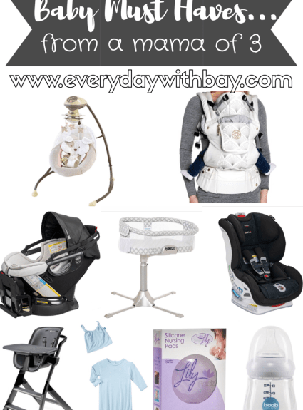 Baby Must Haves From A Mama of 3