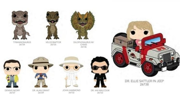 Jurassic Park: finalmente sono arrivati i Funko Pop!