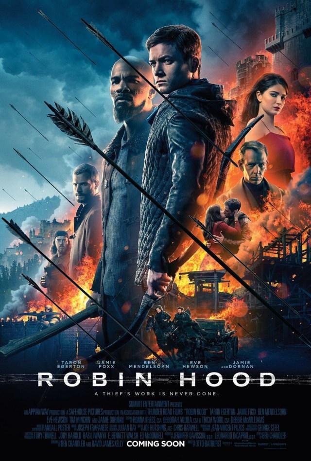 Robin Hood: piovono frecce nel nuovo poster esplosivo dedicato alla pellicola sull'arciere