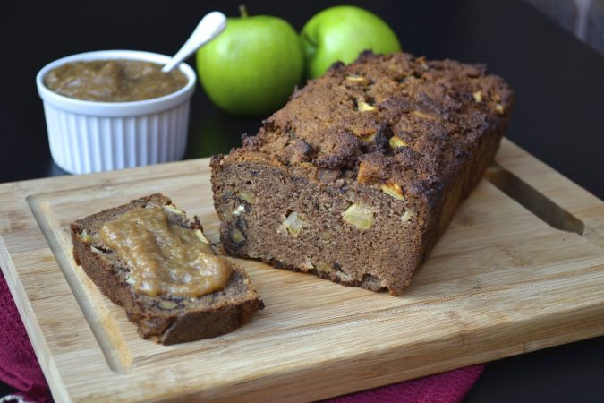 Spiced Apple Walnut Loaf with Apple Butter