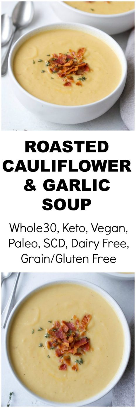 Roasted Cauliflower & Garlic Soup